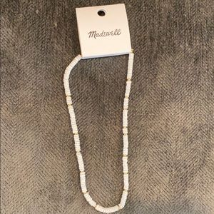 Madewell white and gold shell necklace AI115